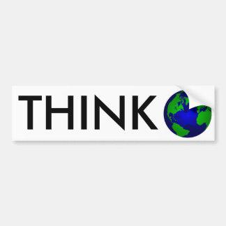 Think Global Bumper Sticker