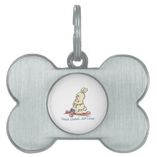Think Global Eat Local Pet ID Tags