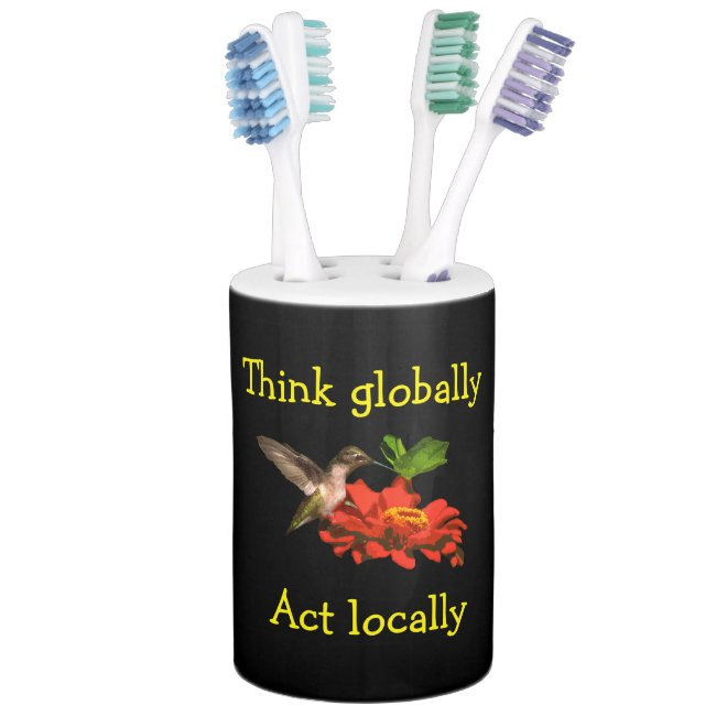 Think Globally Act Locally Bathroom Set