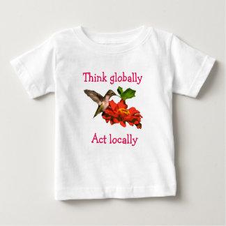 Think Globally Act Locally Hummingbird Shirt