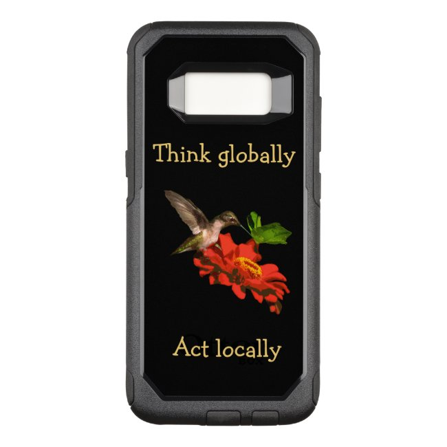 Think Globally Act Locally Red Galaxy S8 Case