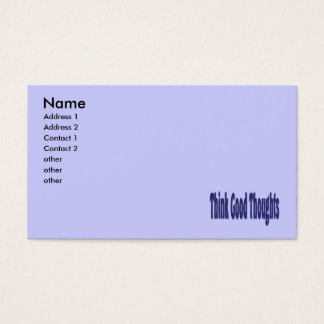 think good thoughts business card