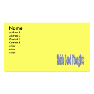 think good thoughts Double-Sided standard business cards (Pack of 100)