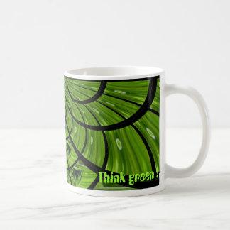 Think green ! #1 classic white coffee mug