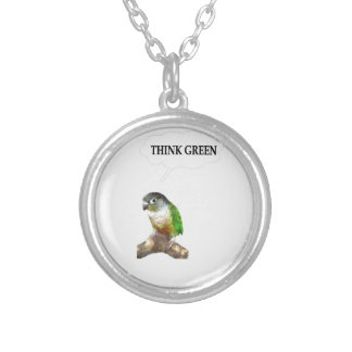 Think Green 2 Round Pendant Necklace