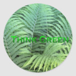 Think Green 2 Round Stickers