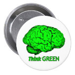 Think GREEN 3 Inch Round Button