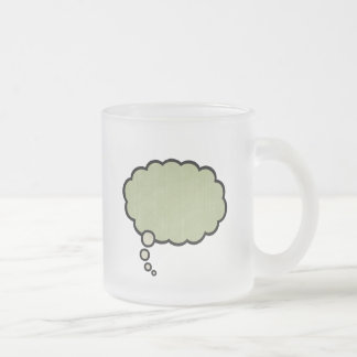 Think Green -516 Frosted Glass Coffee Mug