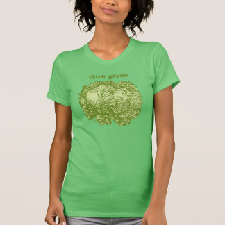 think green. A topic about eco-culture and lettuce T-Shirt