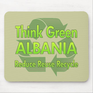 Think Green Albania Mouse Pads