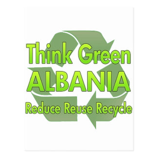 Think Green Albania Postcard