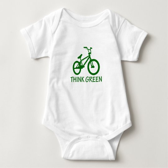 Think Green And Cycle Baby Bodysuit
