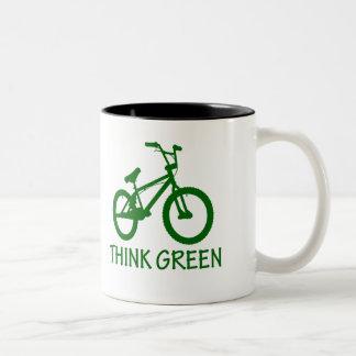 Think Green And Cycle Mug