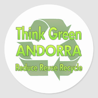 Think Green Andorra Stickers