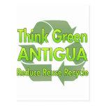 Think Green Antigua Postcard