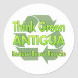 Think Green Antigua Sticker