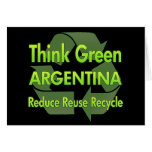 Think Green Argentina Greeting Card