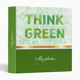Think Green Awareness Happy Quote Binder