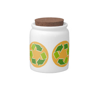 Think Green Awareness Happy Quote Candy Jars