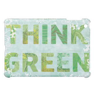 Think Green Awareness Happy Quote Case For The iPad Mini