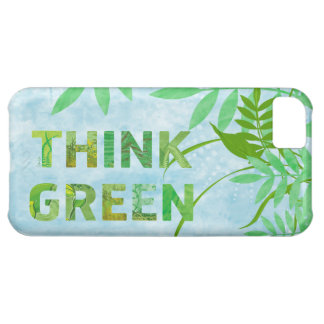 Think Green Awareness Happy Quote Cover For iPhone 5C