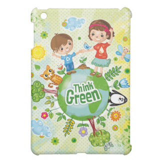 Think Green Awareness Happy Quote Cover For The iPad Mini