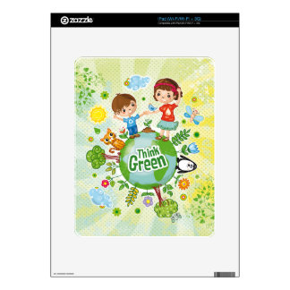 Think Green Awareness Happy Quote Decal For iPad