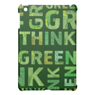 Think Green Awareness Happy Quote iPad Mini Case