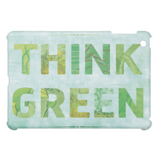 Think Green Awareness Happy Quote iPad Mini Cases