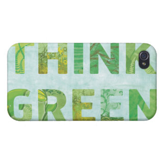 Think Green Awareness Happy Quote iPhone 4/4S Cover