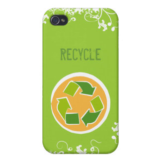 Think Green Awareness Happy Quote iPhone 4 Cover