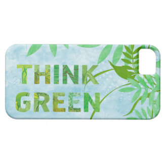 Think Green Awareness Happy Quote iPhone SE/5/5s Case