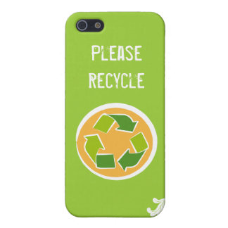 Think Green Awareness Happy Quote iPhone SE/5/5s Cover