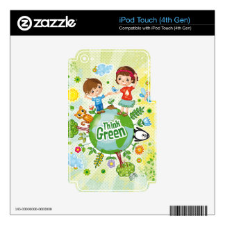 Think Green Awareness Happy Quote iPod Touch 4G Skin