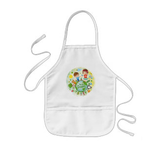 Think Green Awareness Happy Quote Kids' Apron
