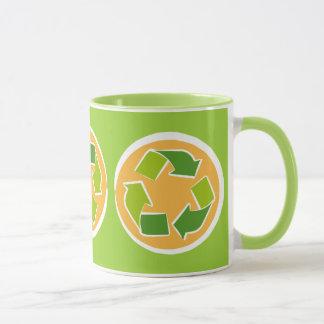 Think Green Awareness Happy Quote Mug