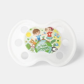 Think Green Awareness Happy Quote Pacifier