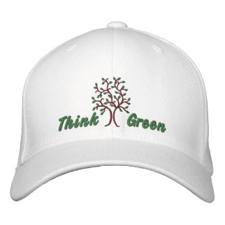 Think Green ~ Ballcap Embroidered Baseball Hat