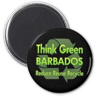 Think Green Barbados Fridge Magnets