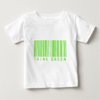 Think Green Barcode Baby T-Shirt