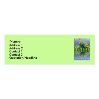 THINK GREEN / BE GREEN Double-Sided MINI BUSINESS CARDS (Pack OF 20)