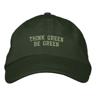 Think Green Be Green Embroidered Hat