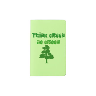 Think Green Be Green Notebook Cover