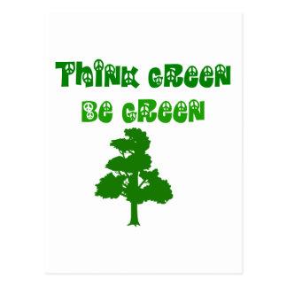 Think Green Be Green Postcard