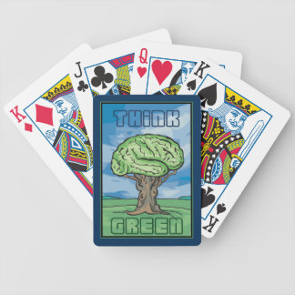 Think Green Bicycle Playing Cards