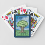 Think Green Bicycle Poker Cards