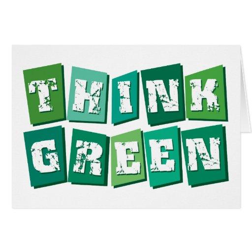 Think Green blocks Card