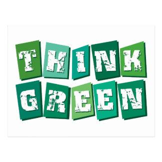 Think Green blocks Postcards
