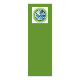 Think Green Bookmark Double-Sided Mini Business Cards (Pack Of 20)