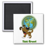Think Green! - Boots Refrigerator Magnets